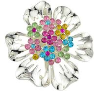 Sparkling Flower Crystal Pin